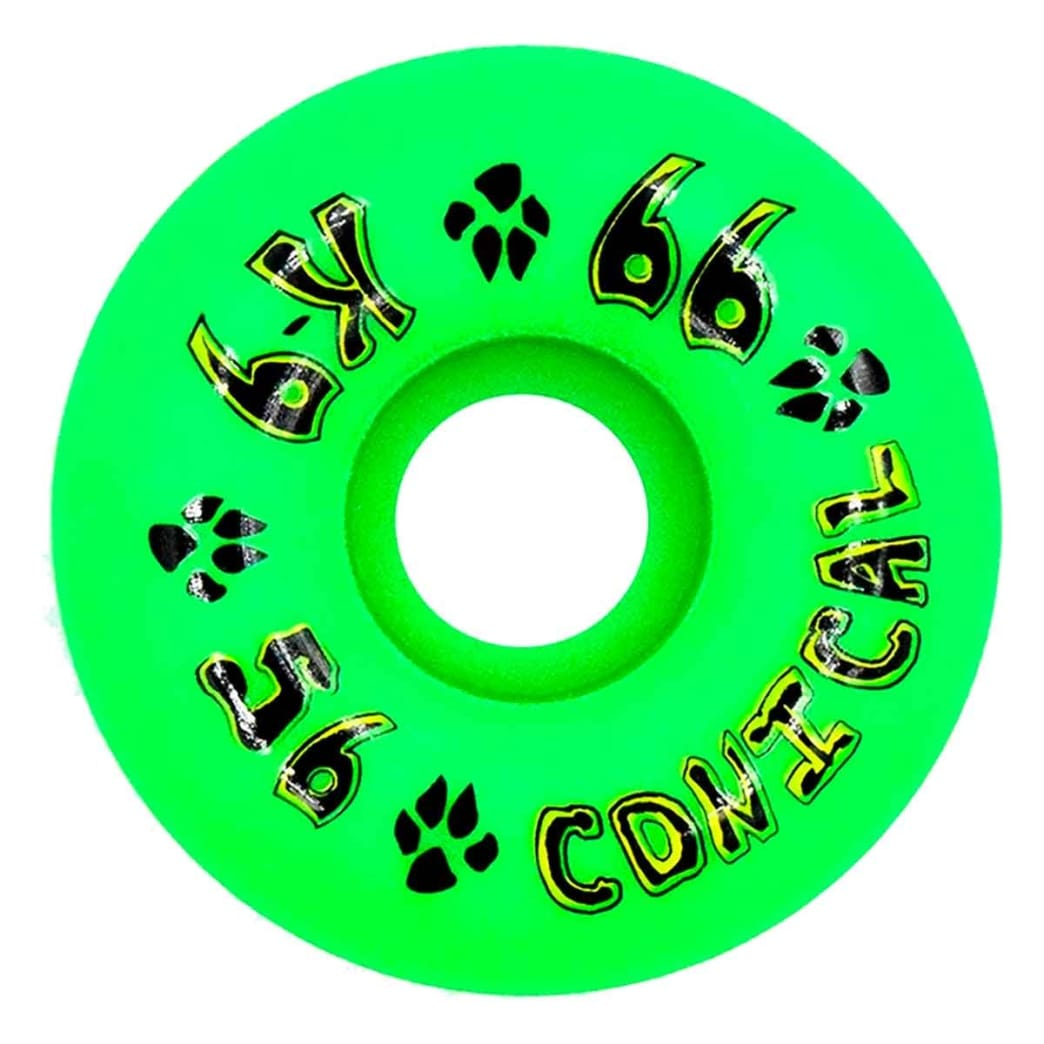 Dogtown - K-9 Conical 56mm 99a Neon Green   Wheels by Dogtown 1