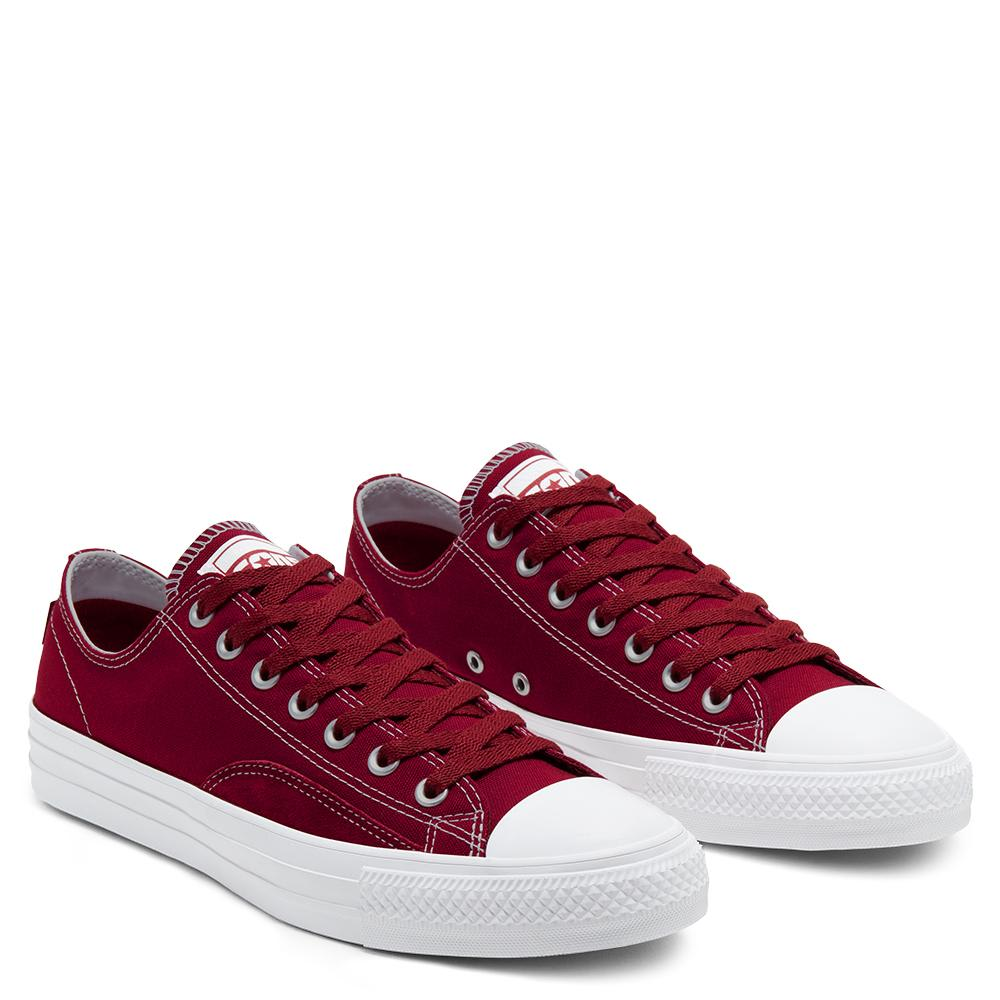 Converse Cons Suede Ollie Patch CTAS Pro Low Skate Shoes - Team Red / White / White | Shoes by Converse Cons 3