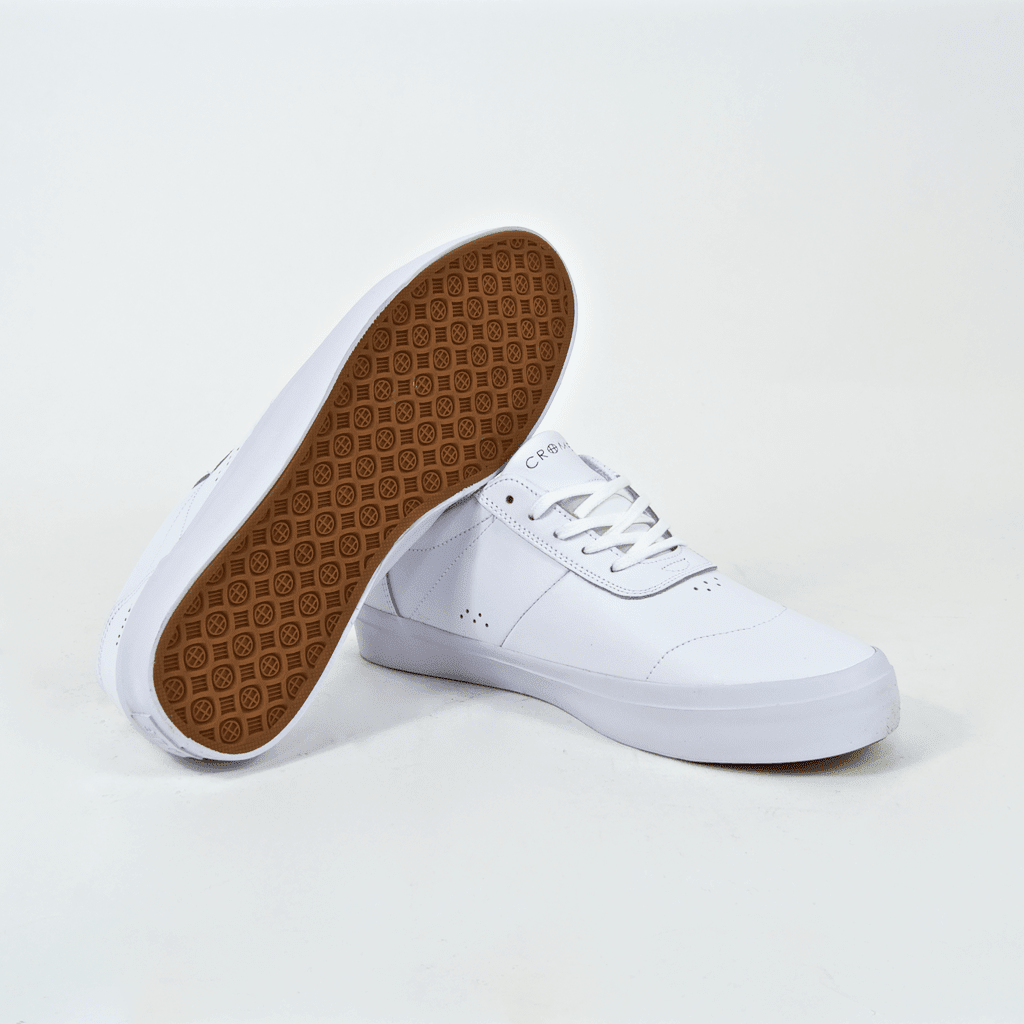 Huf - Cromer 2 Shoes - White / White (Leather) | Shoes by HUF 3