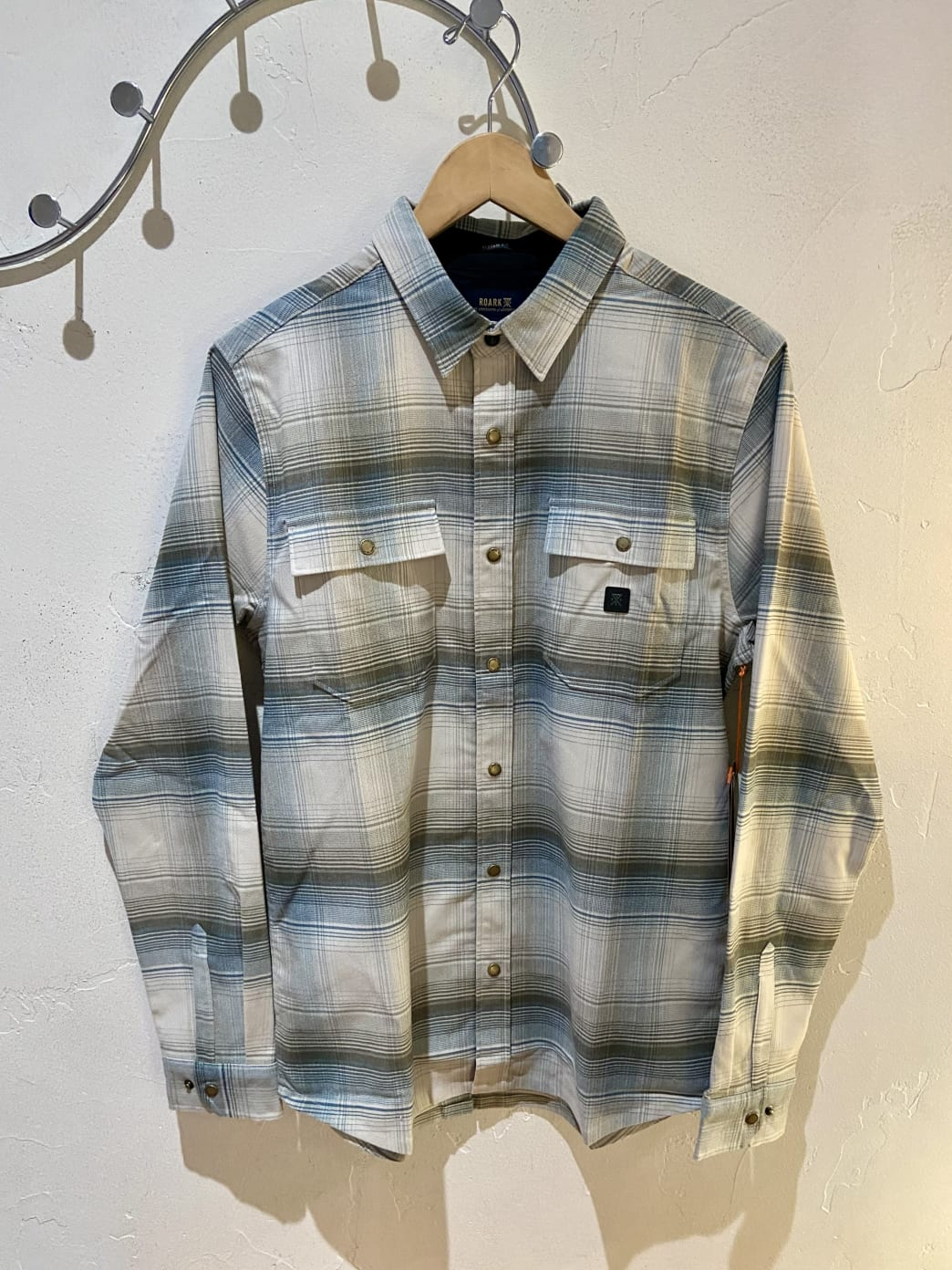Roark Alpinist Long Sleeve Flannel Shirt - Bone | Shirt by Bad Image 1