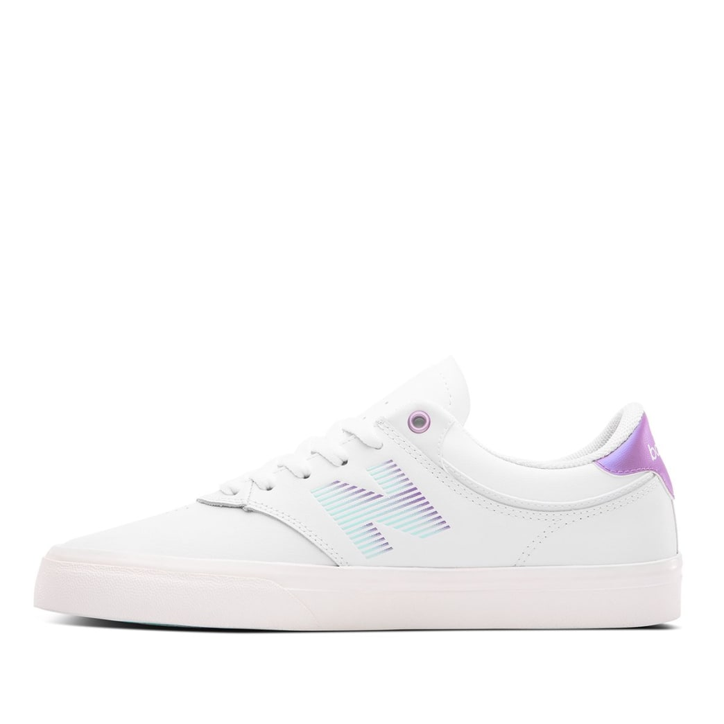 New Balance Numeric Jordan Taylor 255 Skate Shoe - White / Purple | Shoes by New Balance 2