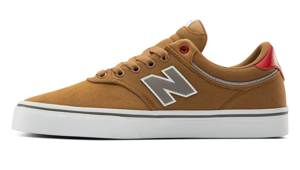 New Balance Numeric 255 Skate Shoe - Brown / Red | Shoes by New Balance 2