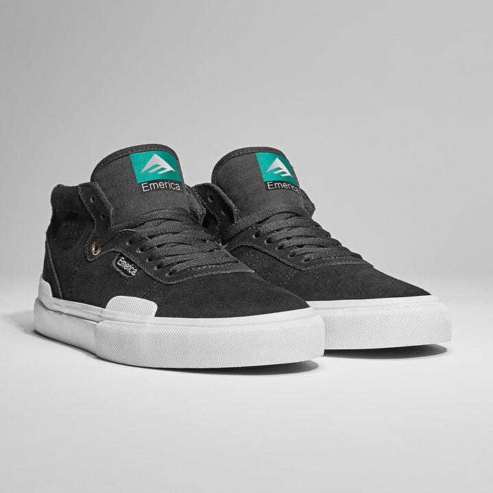 Emerica Pillar Skate Shoes - Black / White / Gold | Shoes by Emerica 2