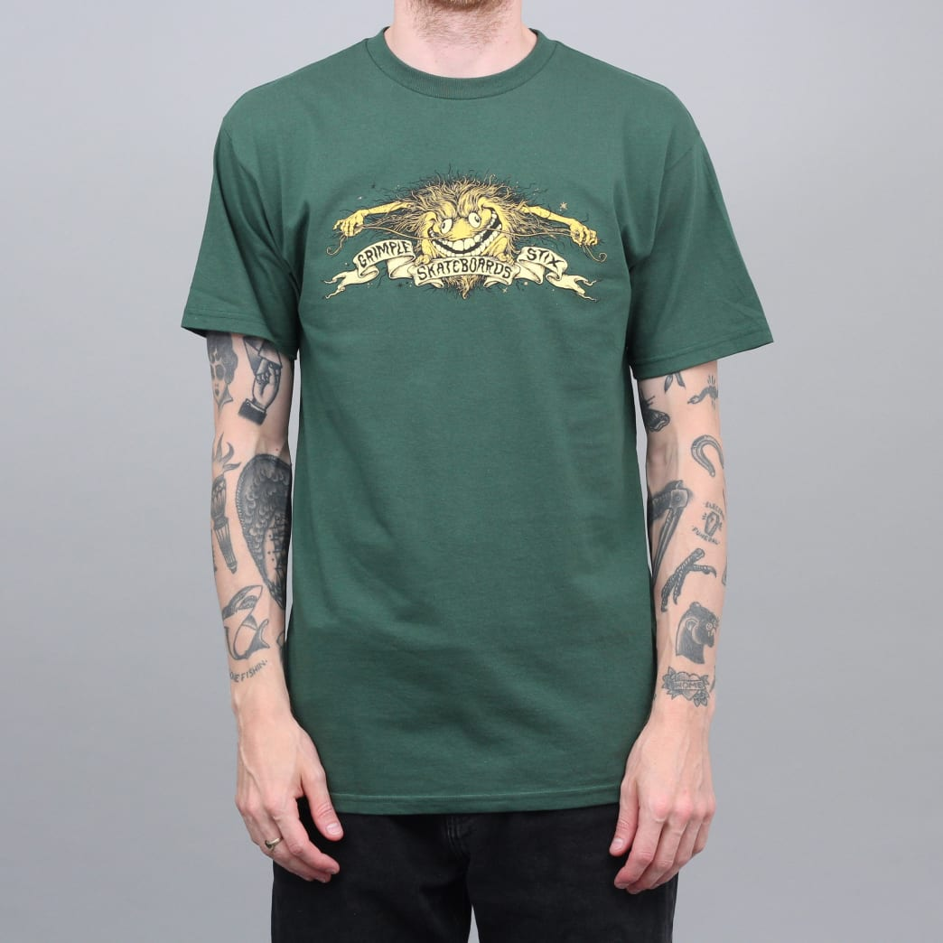 Anti Hero Grimple Stix Eagle T-Shirt Forest Green | T-Shirt by Antihero Skateboards 1