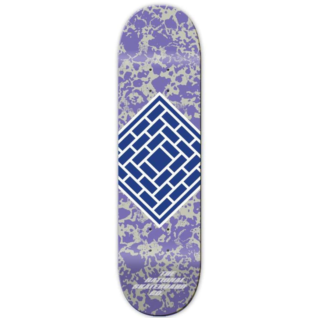 """The National Classic Logo Deck Purple - 7.75"""" 
