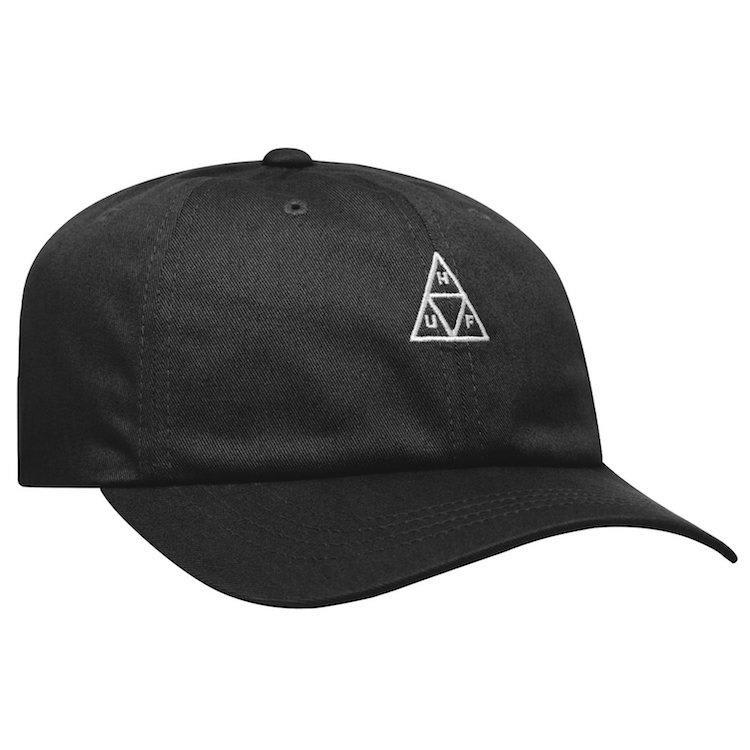 HUF Triple Triangle Curved Visor Cap Black | Baseball Cap by HUF 1
