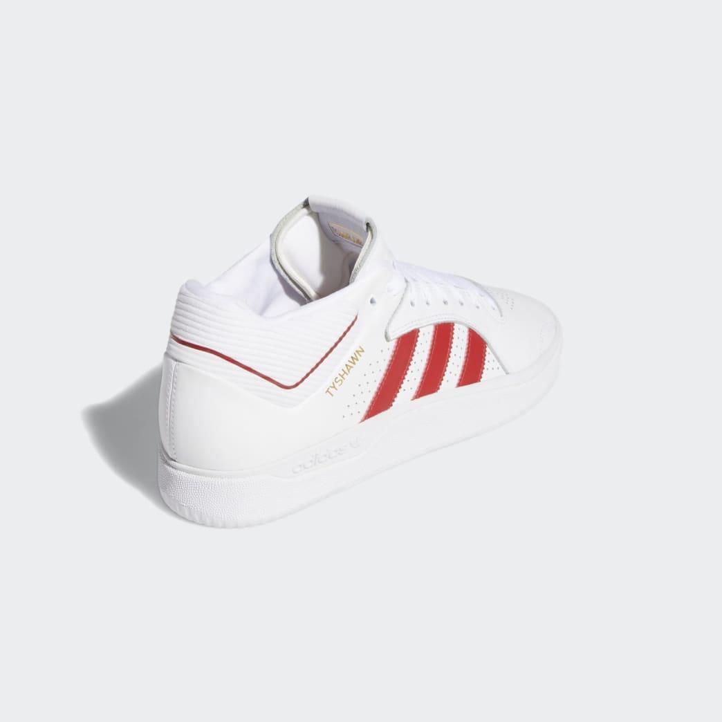 adidas Tyshawn Jones Shoes - FTWR White/Scarlett/FTWR White | Shoes by adidas Skateboarding 5