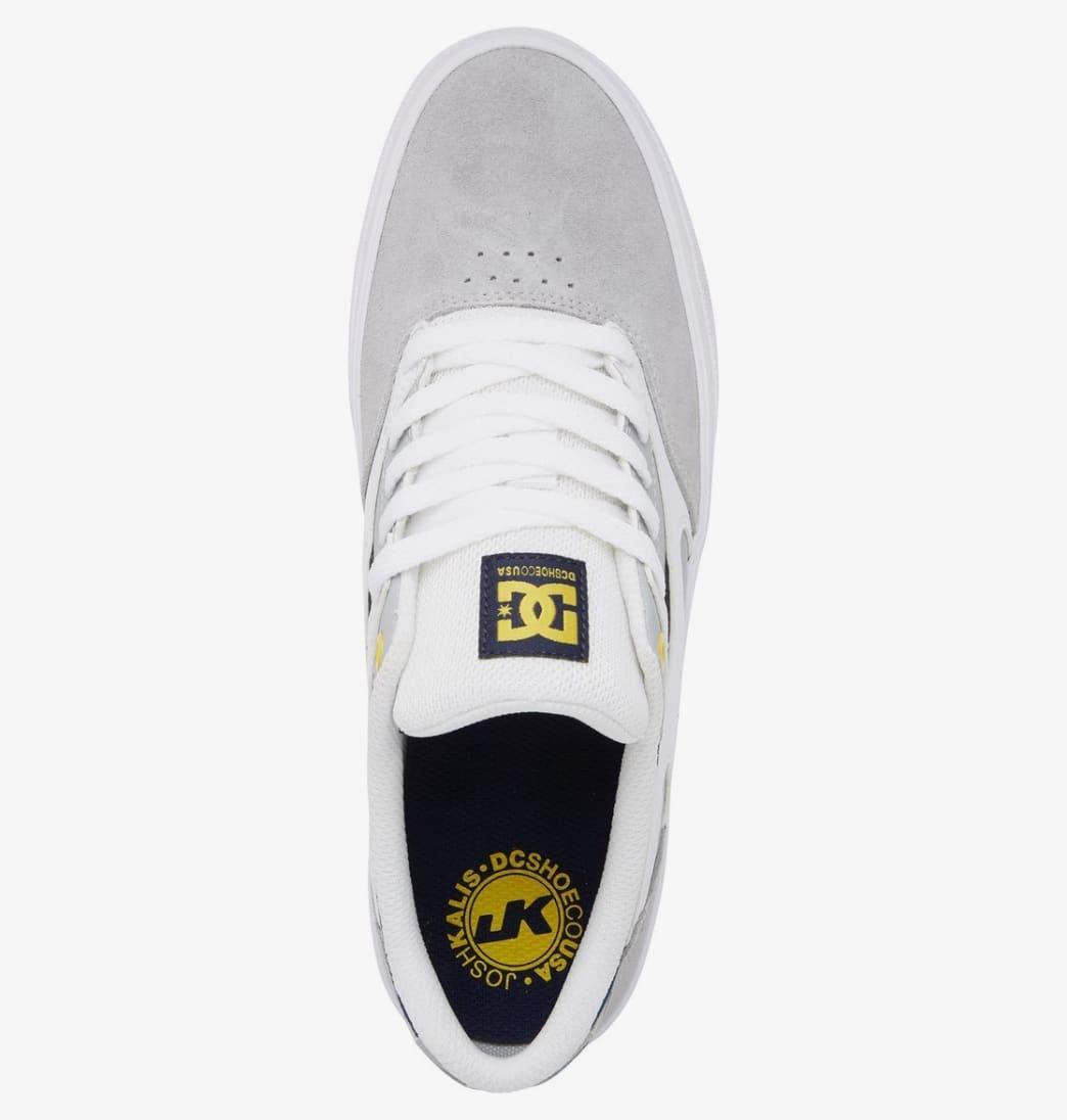 DC Kalis Vulc Skate Shoes - White / Grey / Grey   Shoes by DC Shoes 4