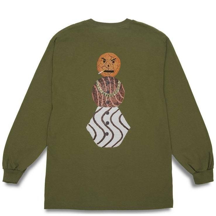 Quartersnacks Snackman Long Sleeve T-Shirt - Olive | Longsleeve by Quartersnacks 1