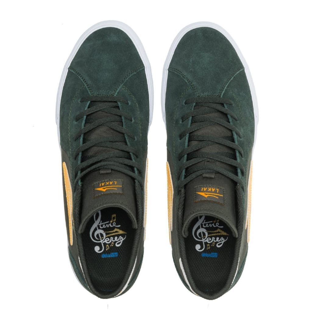 Lakai Flaco 2 Mid Suede Skate Shoes - Olive / Yellow | Shoes by Lakai 4