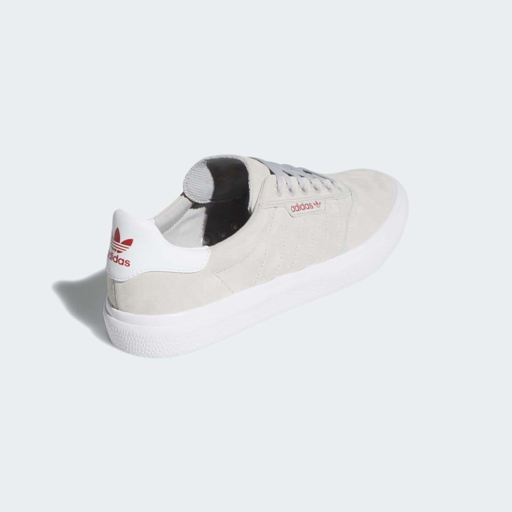 Adidas 3MC Vulc Shoes - Grey Two/FTWR White/Scarlet | Shoes by adidas Skateboarding 5