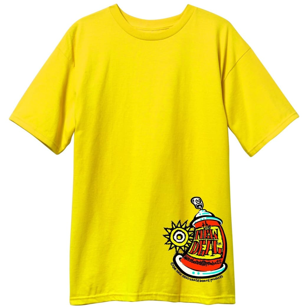 New Deal Skateboards Spray Can T-Shirt - Yellow | T-Shirt by New Deal Skateboards 1