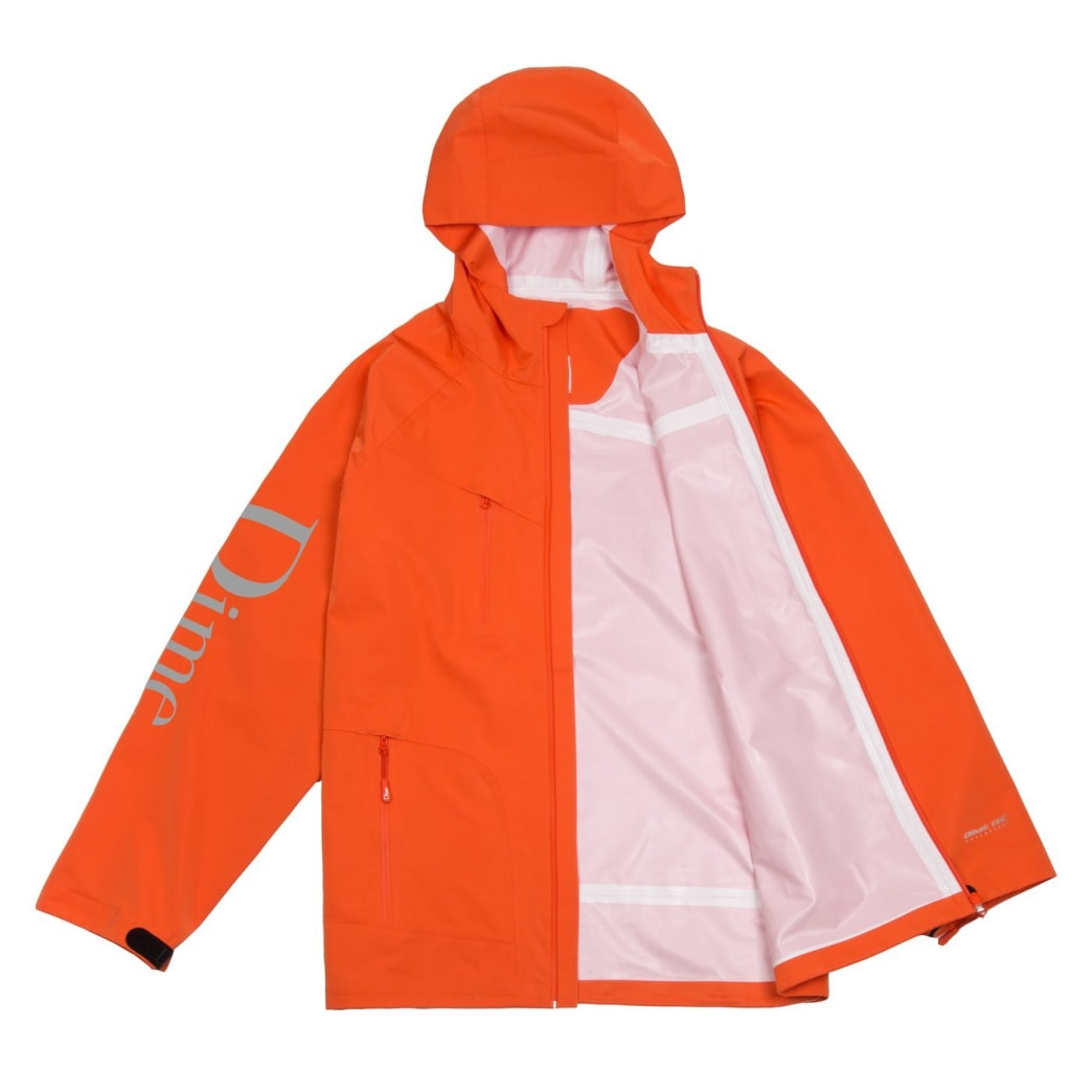 Dime Classic Logo Shell Jacket - Orange | Jacket by Dime MTL 2