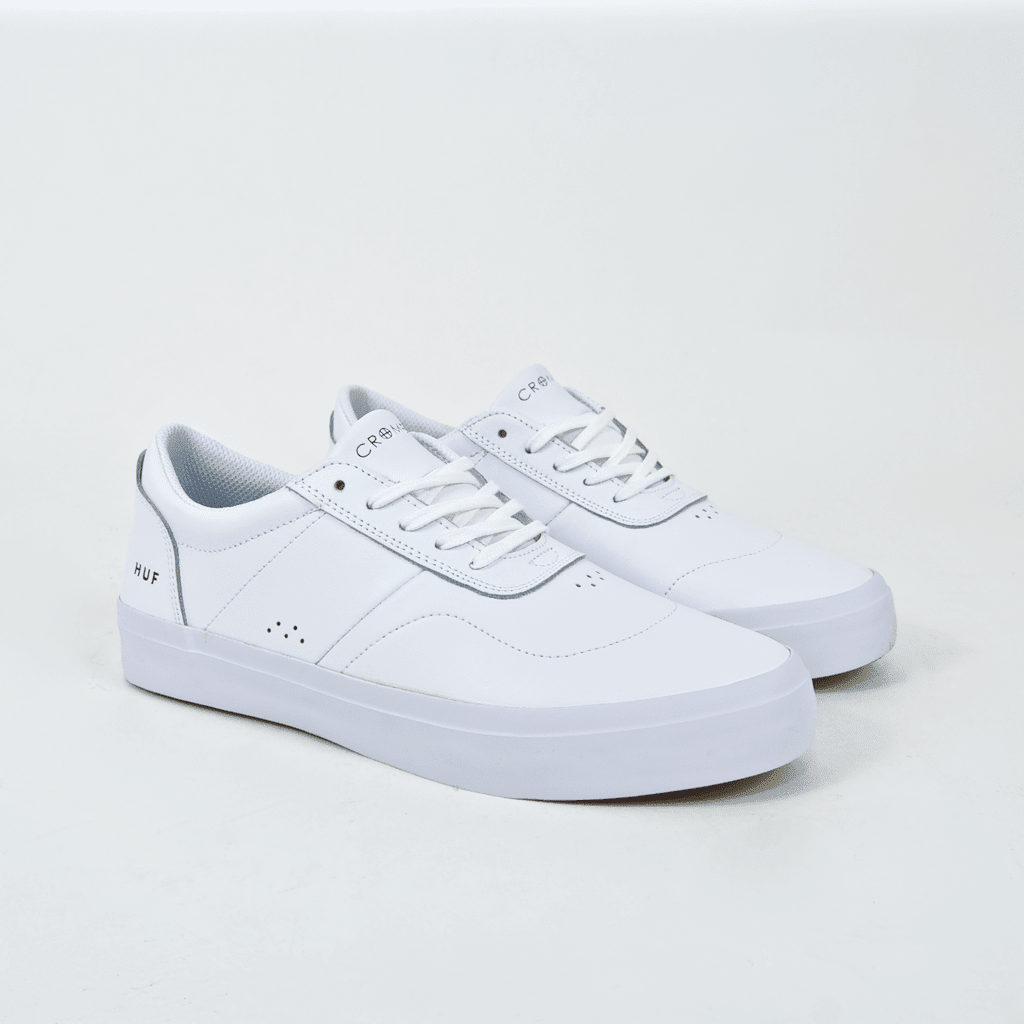 Huf - Cromer 2 Shoes - White / White (Leather) | Shoes by HUF 1