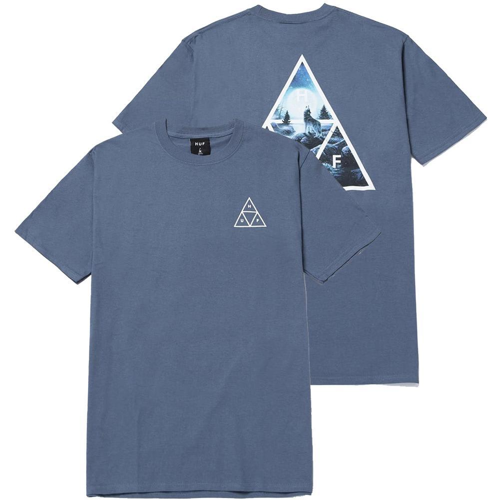 HUF Lupus Noctem Triple Triangle T-Shirt - Slate | T-Shirt by HUF 3