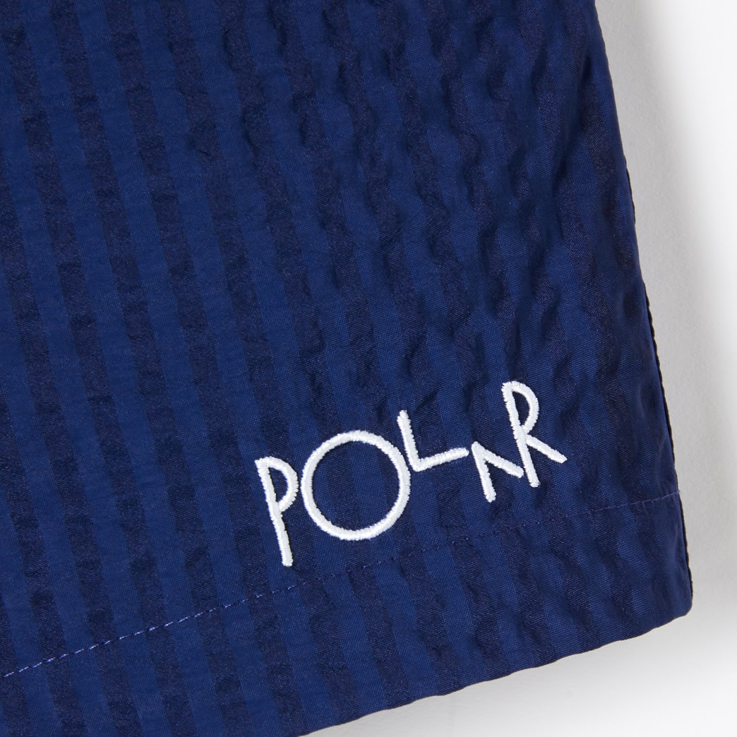 Polar Skate Co Seersucker Swim Shorts - Blue | Shorts by Polar Skate Co 4
