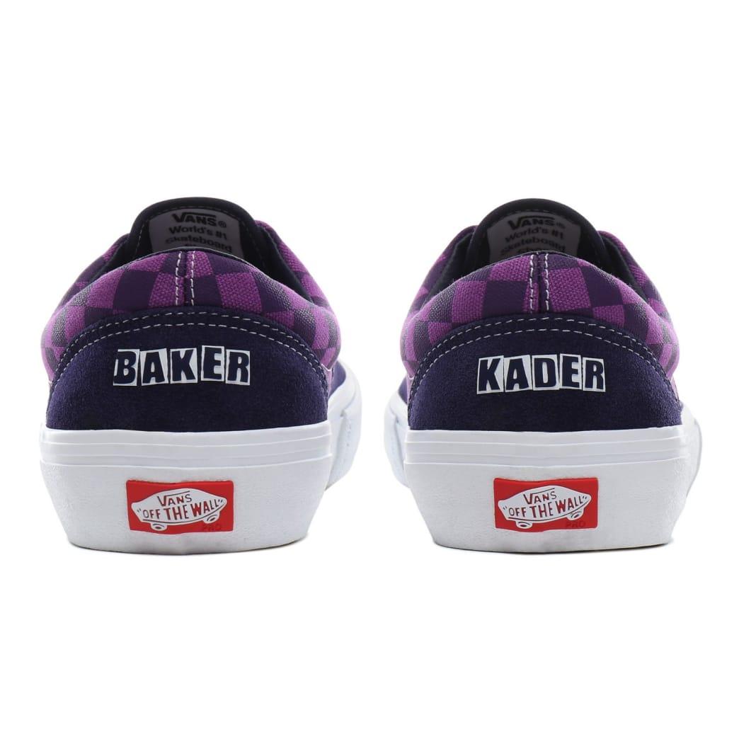 Vans x Baker Era Pro Skate Shoes - Kader / Purple Check   Shoes by Vans 8