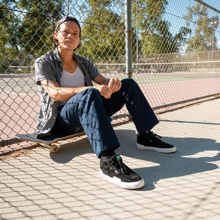 Emerica Pillar Skate Shoes - Black / White / Gold | Shoes by Emerica 3