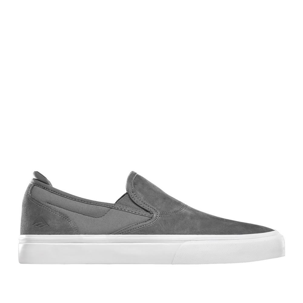 Emerica Wino G6 Slip-On Skate Shoes - Grey | Shoes by Emerica 1