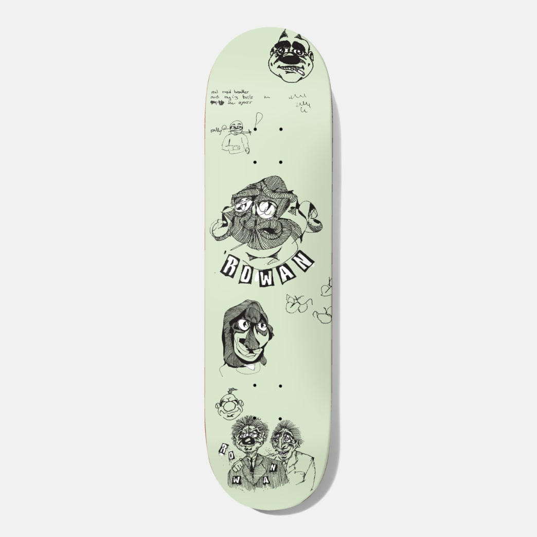 Baker Skateboards Rowan Santino Skateboard Deck - 8.25   Deck by Baker Skateboards 1