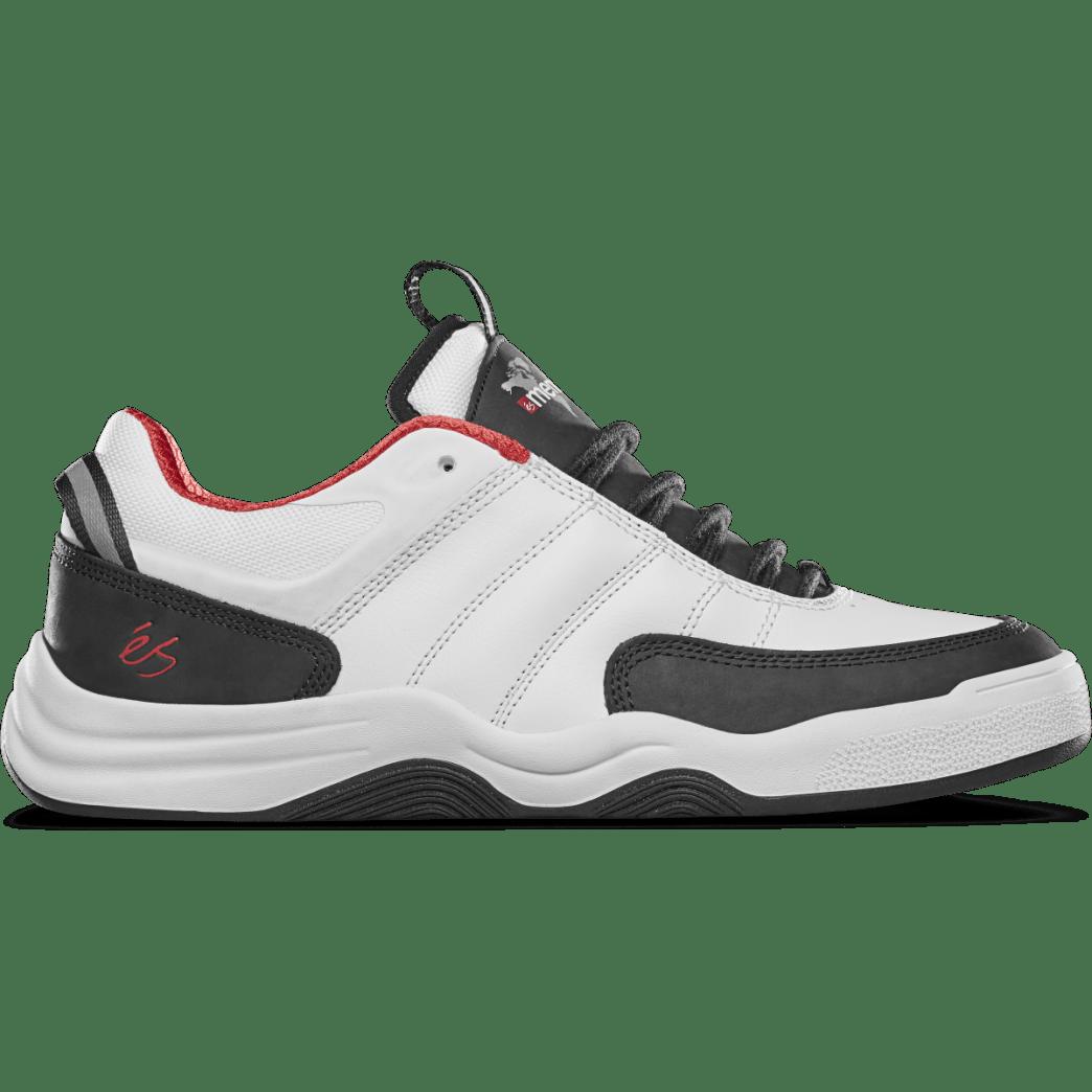 eS Evant x Menikmati Skate Shoe - White / Black | Shoes by eS Shoes 1
