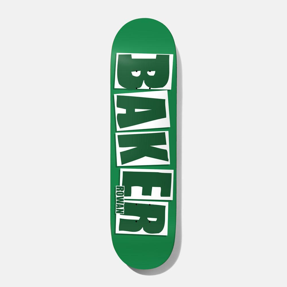 Baker Skateboards Rowan Zorilla Brand Name Green Skateboard Deck - 7.875 | Deck by Baker Skateboards 1