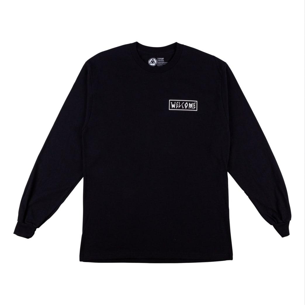 Welcome Skateboards Latin Talisman Premium Long Sleeve T-Shirt - Black / Sunset | Longsleeve by Welcome Skateboards 2