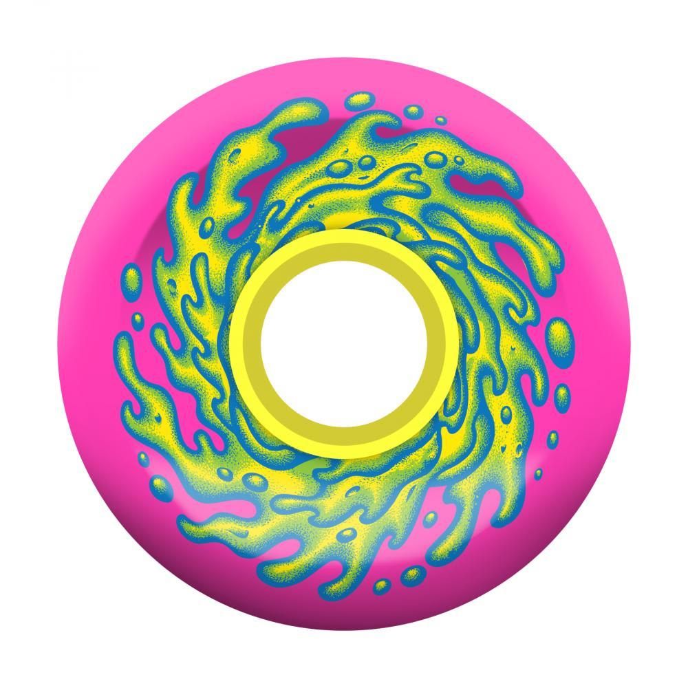 Santa Cruz OG Slime Balls Skateboard Wheels Pink/Yellow - 66mm | Wheels by Santa Cruz Skateboards 1