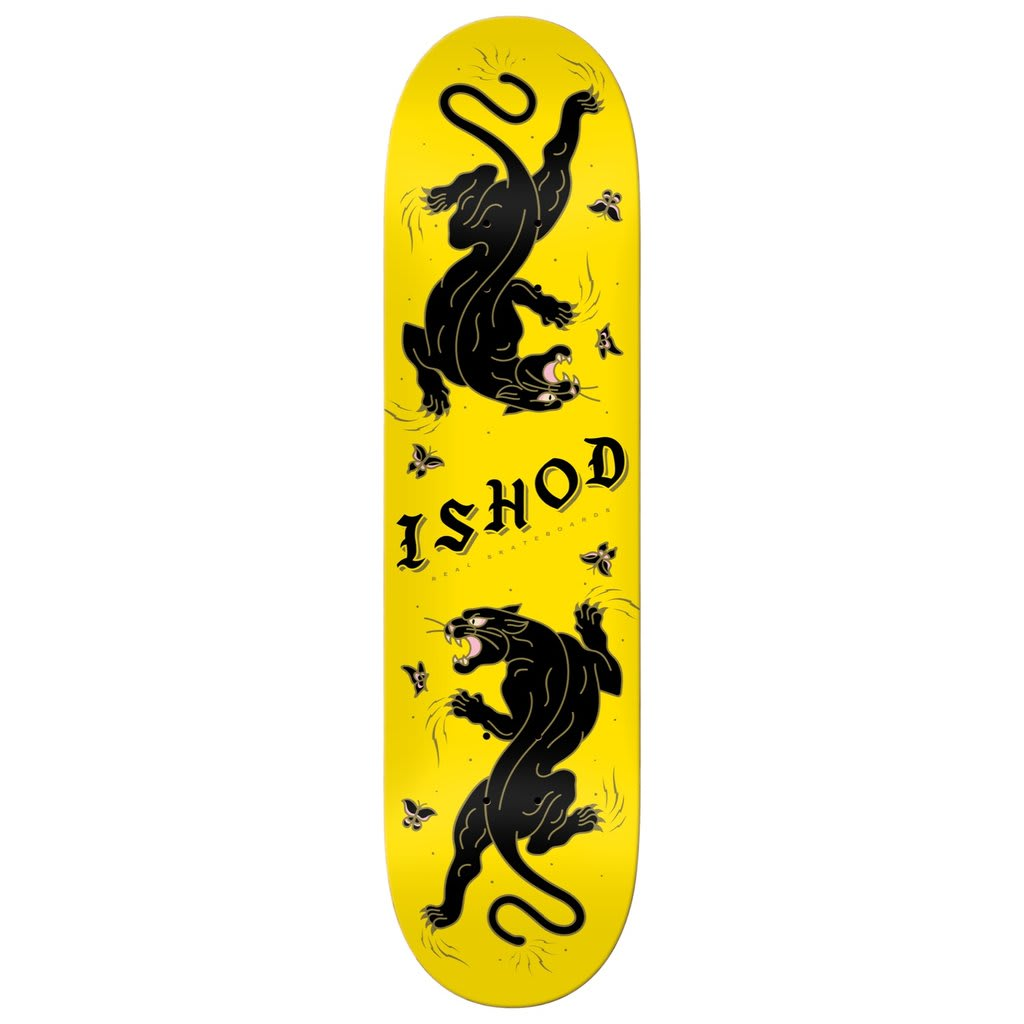 Real Ishod Cat Scratch Yellow Deck | Deck by Real Skateboards 1