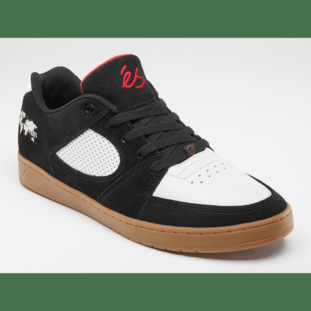 eS Accel Slim x Menikmati Skate Shoe - Black / White / Gum | Shoes by eS Shoes 2