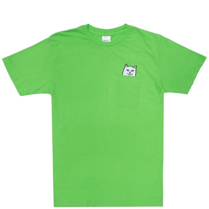 Ripndip Lord Nermal Pocket T-Shirt - Lime | T-Shirt by Ripndip 1