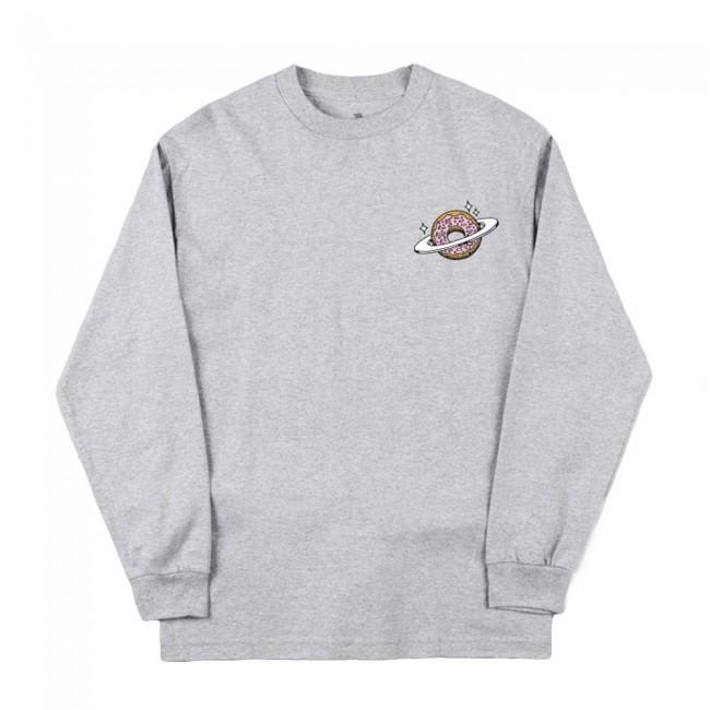 Skateboard Planet Donut Longsleeve T-Shirt - Heather Grey | Longsleeve by Skateboard Cafe 1