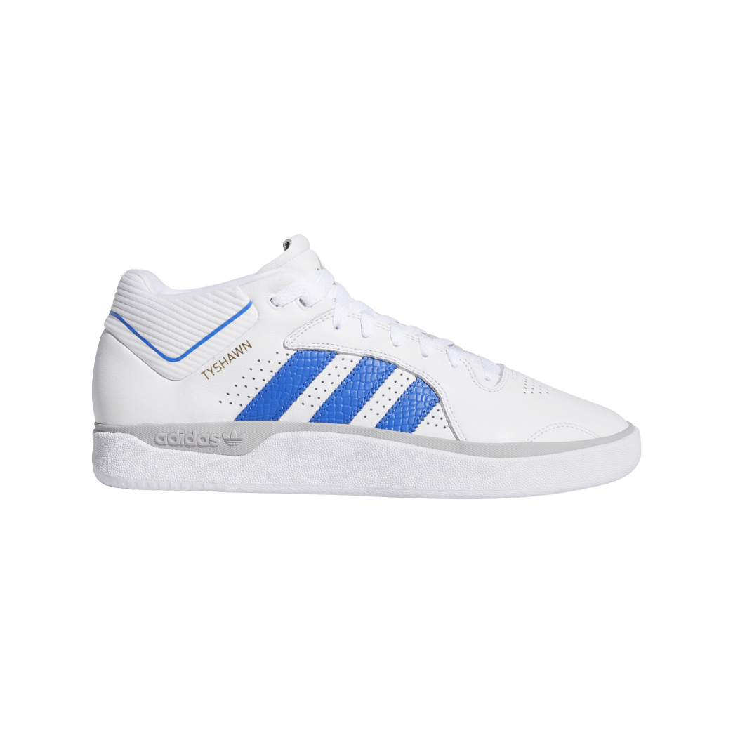 adidas Tyshawn Jones Skate Shoes - Cloud White / Blue / Gold Metallic | Shoes by adidas Skateboarding 1