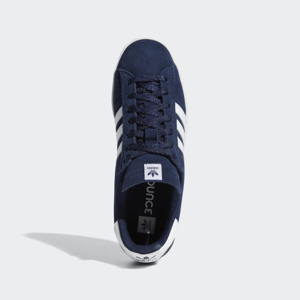 Adidas Campus ADV Shoes - Collegiate Navy/Cloud White/Cloud White | Shoes by adidas Skateboarding 2