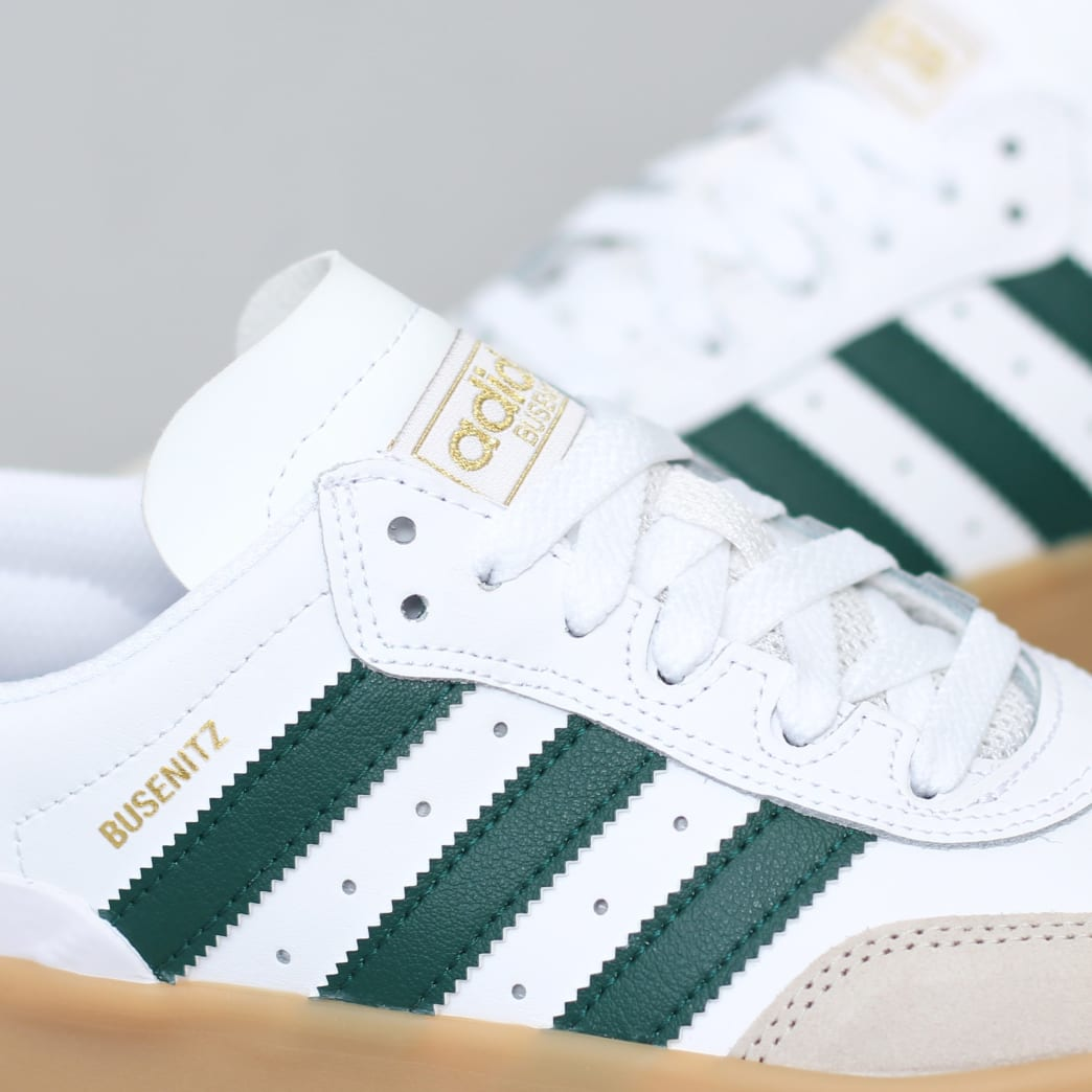 adidas Busenitz Vulc RX Shoes FTWR White / Collegiate Green / Gum3 | Shoes by adidas Skateboarding 6