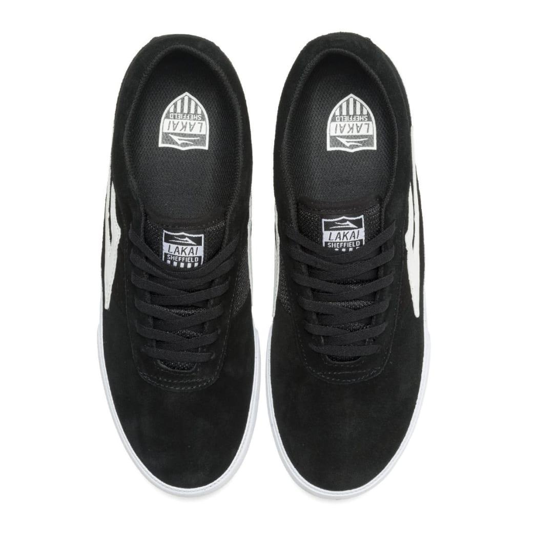 Lakai Sheffield Suede Skate Shoe - Black / White | Shoes by Lakai 2