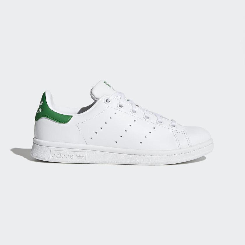 Adidas - STAN SMITH - White / Green / Green   Shoes by adidas Skateboarding 1