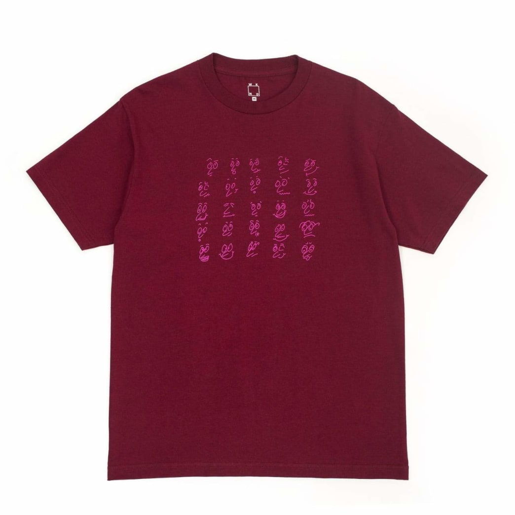 WKND Faces T-Shirt - Burgundy | T-Shirt by WKND 1