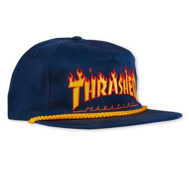 Thrasher - Flame Rope Snapback | Snapback Cap by Thrasher 1