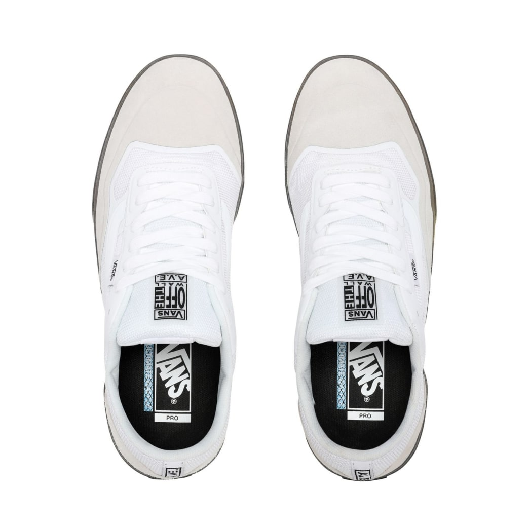 Vans AVE Pro Skate Shoes - White / Smoke | Shoes by Vans 2