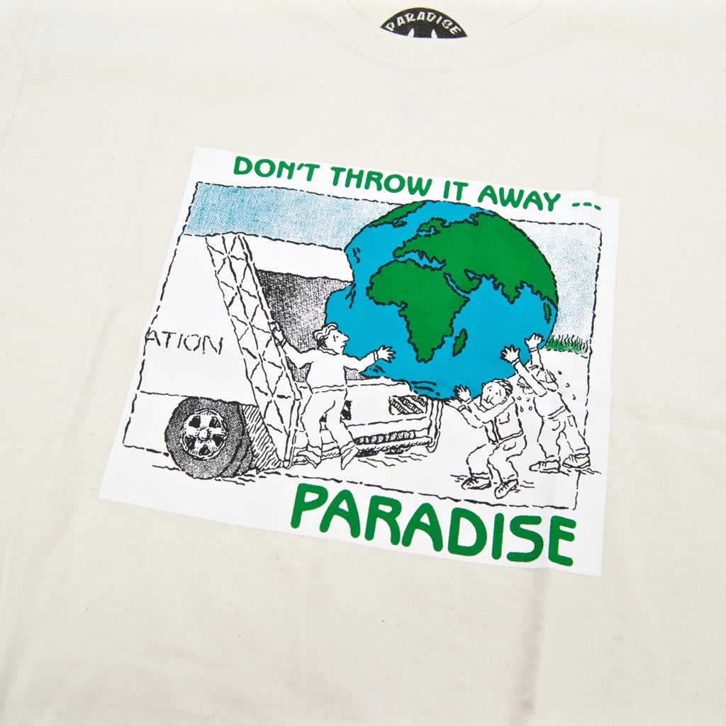 Paradise.NYC Don't Throw It Away T-Shirt - Cream | T-Shirt by Paradise.NYC 2