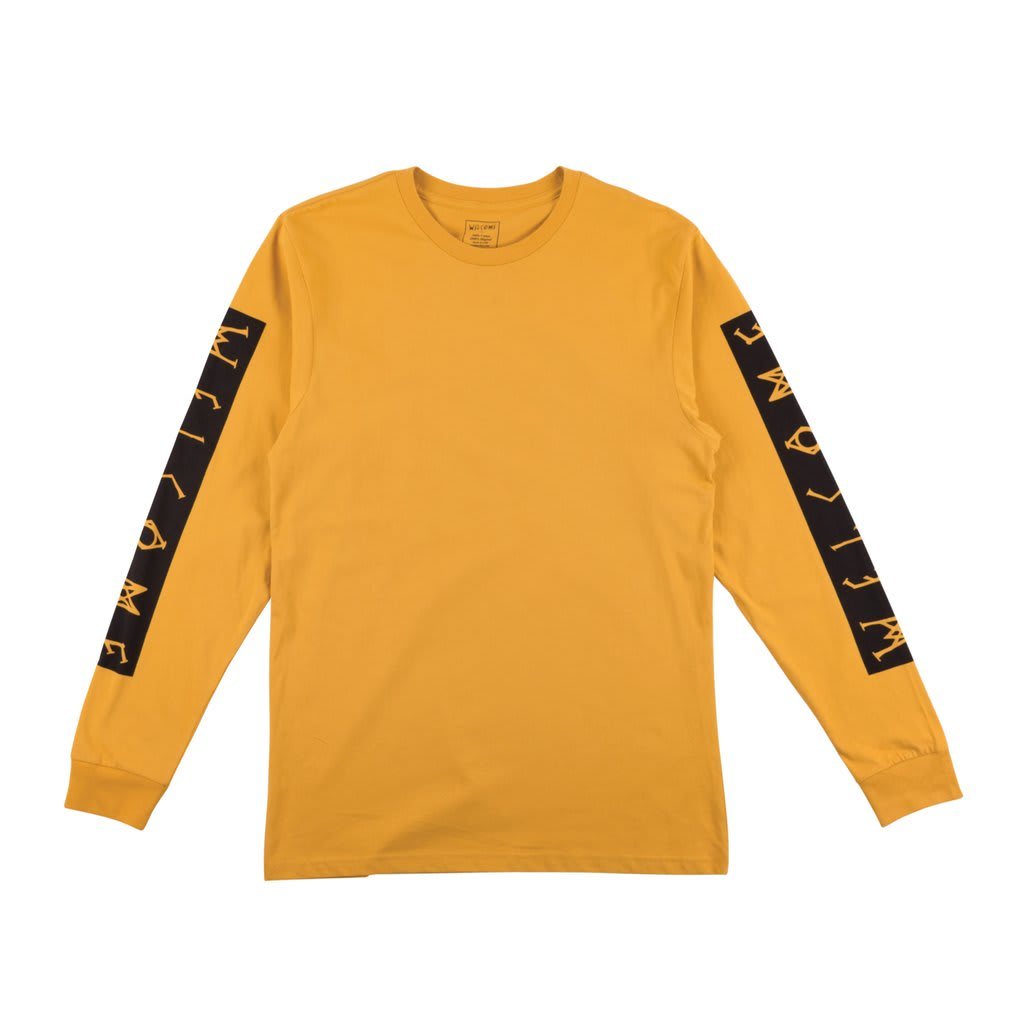 Welcome Skateboards Goblin Long Sleeve T-Shirt (Mustard) | Longsleeve by Welcome Skateboards 1