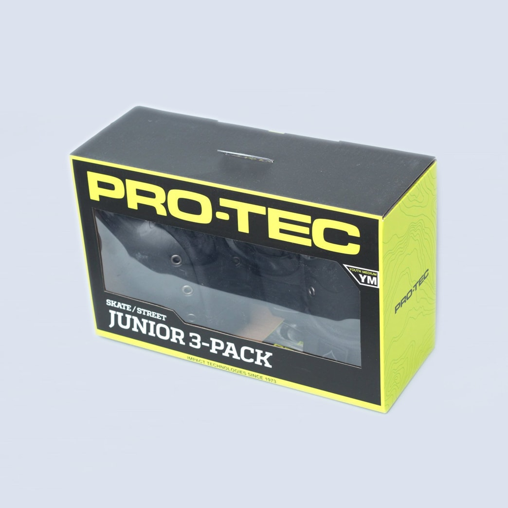 Pro-Tec 3 Pack Youth Street Gear Padset Black | Pads by Pro-Tec 2