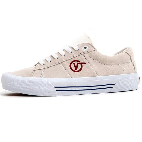 Vans - Saddle Sid Pro Shoes - Marshmallow / Racing Red | Shoes by Vans 1