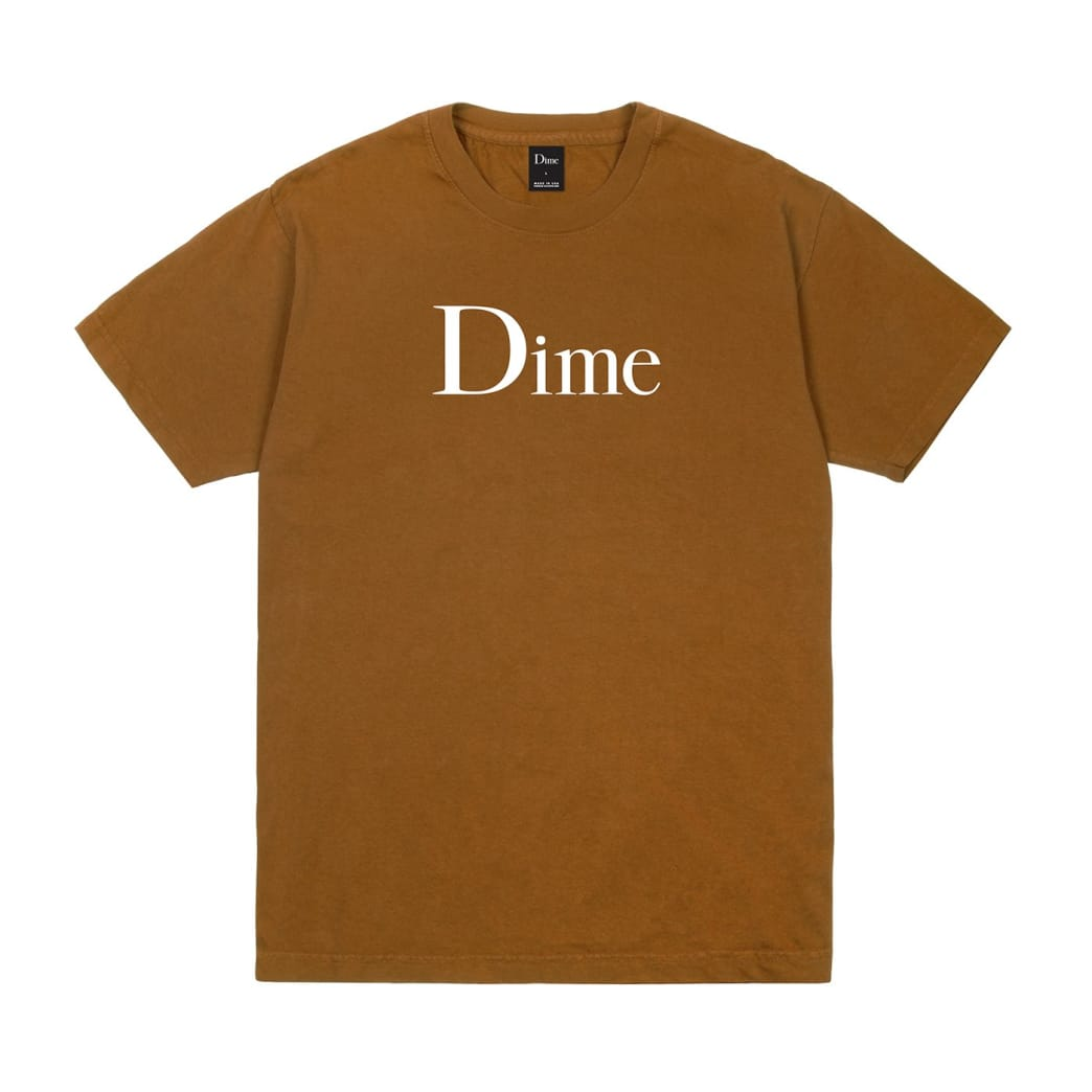 Dime Classic Logo T-Shirt - Coffee | T-Shirt by Dime MTL 1