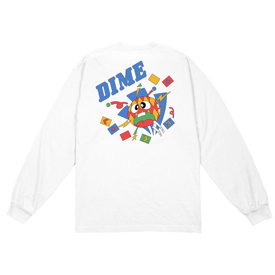 Dime Breaker Long Sleeve T-Shirt - White | Longsleeve by Dime MTL 1