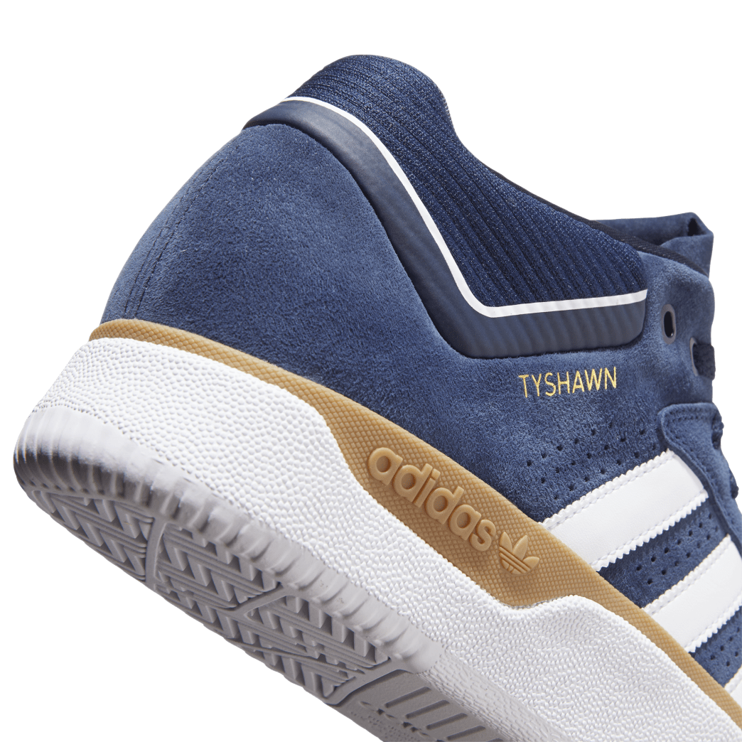 adidas Tyshawn Jones Skate Shoes - Collegiate Navy / FTWR White / Gum 4 | Shoes by adidas Skateboarding 9