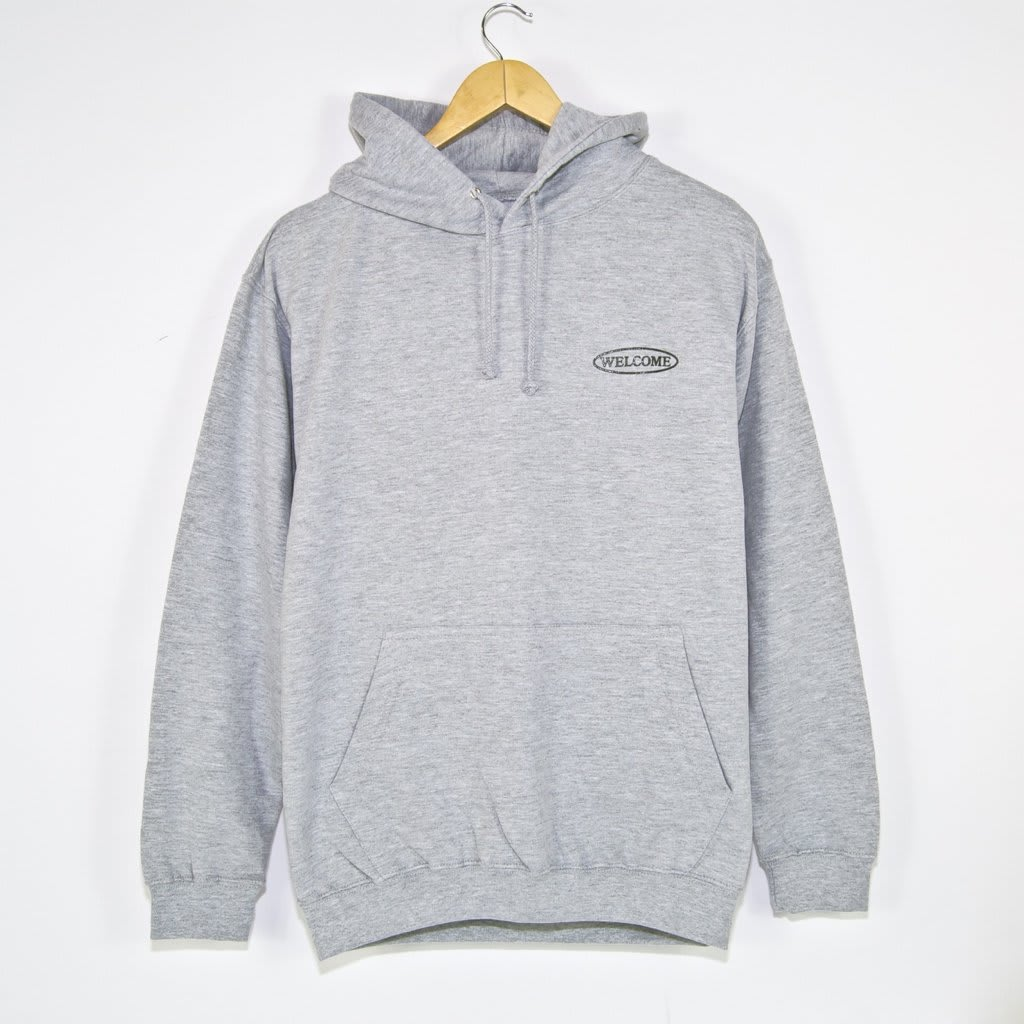 Welcome Skate Store - No Drama Pullover Hooded Sweatshirt - Heather Grey / Dark Grey Reflective   Hoodie by Welcome Skate Store 2