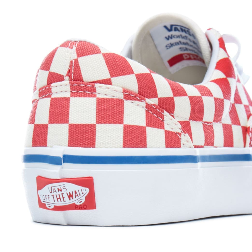 Vans Checkerboard Era Pro Skateboard Shoes - Rococco Red/Classic White | Shoes by Vans 6
