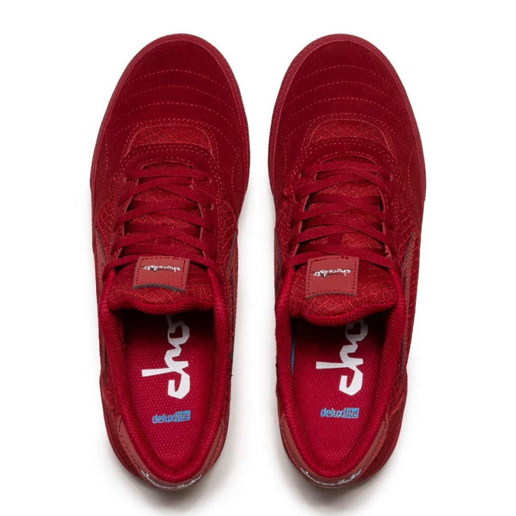 Lakai x Chocolate Cambridge Suede Skate Shoes - Reflective Red | Shoes by Lakai 2